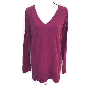 Style & Co Magenta Blossom Cotton Tunic Top NWT